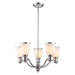 ELK Lighting Five Light Polished Chrome Up Chandelier
