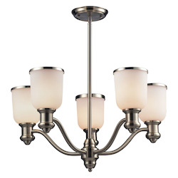 ELK Lighting Five Light Satin Nickel Up Chandelier