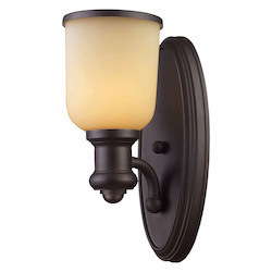 ELK Lighting One Light Oiled Bronze Wall Light