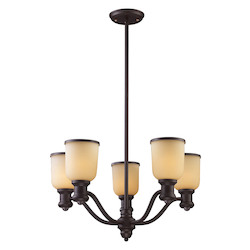 ELK Lighting Five Light Oiled Bronze Up Chandelier