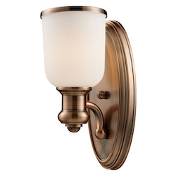 ELK Lighting One Light Antique Copper Wall Light