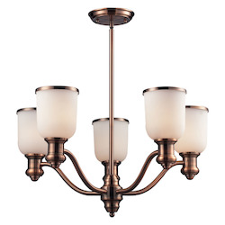 ELK Lighting Five Light Antique Copper Up Chandelier