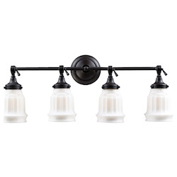 ELK Lighting Four Light Oiled Bronze Vanity