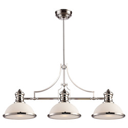 ELK Lighting Three Light Polished Nickel Island Light