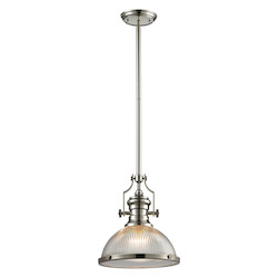 ELK Lighting Chadwick (Existing) Collection 1 Light Pendant In Polished Nickel