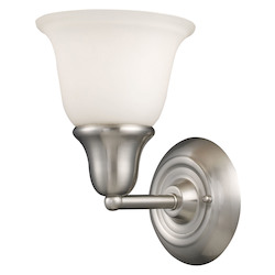ELK Lighting One Light Brushed Nickel Bathroom Sconce