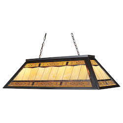 ELK Lighting Four Light Tiffany Bronze Pool Table Light