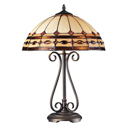 ELK Lighting Diamond Ring Burnished Copper Table Lamp