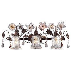 ELK Lighting Three Light Deep Rust Vanity