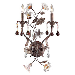ELK Lighting Two Light Deep Rust Wall Light