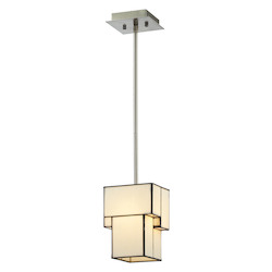 ELK Lighting Cubist Collection 1 Light Mini Pendant In Brushed Nickel