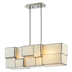 ELK Lighting Cubist Collection 4 Light Chandelier In Brushed Nickel