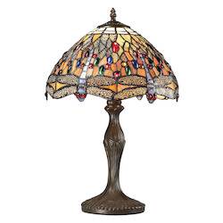 ELK Lighting Dragonfly Collection 1 Light Table Lamp In Dark Bronze