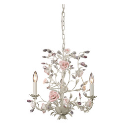 ELK Lighting Three Light Cream Up Chandelier