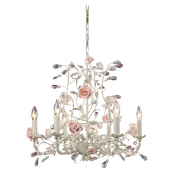 ELK Lighting Six Light Cream Up Chandelier