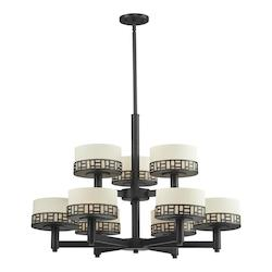 Z-Lite Bronze Elea 9 Light 2 Tier Chandelier
