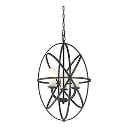 Z-Lite Bronze Aranya 3 Light Pendant