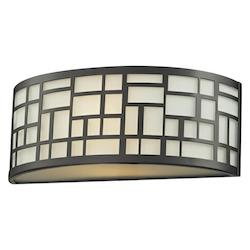 Z-Lite Bronze 1 Light Ada Compliant Bathroom Sconce With Matte Opal Glass