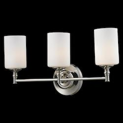 Z-Lite Three Light Matte Opal Glass Chrome/Matte Opal Vanity