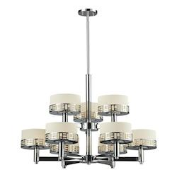 Z-Lite Chrome Elea 9 Light 2 Tier Chandelier