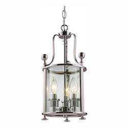 Z-Lite Brushed Nickel Wyndham Three-Light Foyer Pendant