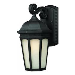 Z-Lite One Light Black White Seedy Glass Wall Lantern