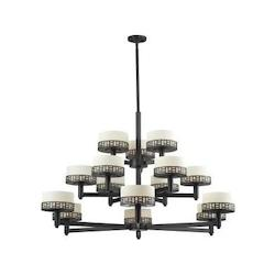 Z-Lite Bronze Elea 15 Light 3 Tier Chandelier