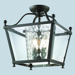 Z-Lite Three Light Bronze  Foyer Hall Semi-Flush Mount