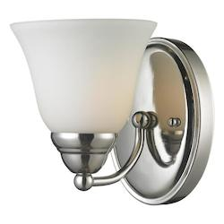 Z-Lite One Light Chrome Matte Opal Glass Bathroom Sconce