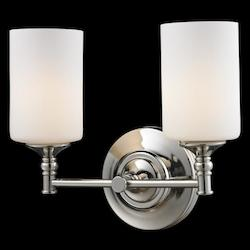 Z-Lite Two Light Matte Opal Glass Chrome/Matte Opal Vanity