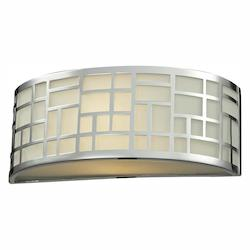 Z-Lite Chrome 1 Light Ada Compliant Bathroom Sconce With Matte Opal Glass