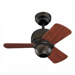 Monte Carlo Studio 54-Inch 3-Blade Ceiling Fan With Blades Roman Bronze
