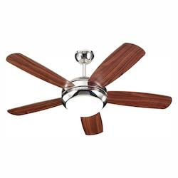 Monte Carlo One Light Nickel Ceiling Fan