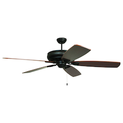Craftmade Aged Bronze Classic 62in. 5 Blade Indoor Ceiling Fan - Blades Included