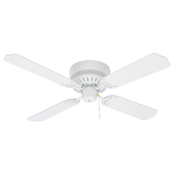 Craftmade White Builder 42in. 4 Blade Indoor Hugger Ceiling Fan - Blades Included