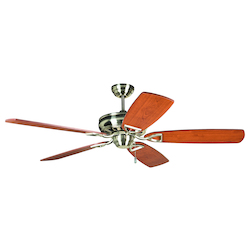 Craftmade Brushed Nickel 56 Inch 5 Blade 56in. or 62in. Ceiling Fan with Blades Included