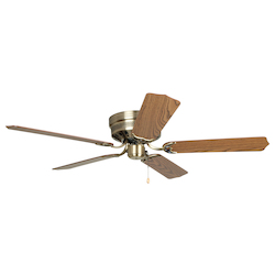 Craftmade Antique Brass Builder 52in. 5 Blade Indoor Hugger Ceiling Fan - Blades Included