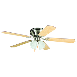 Craftmade Brushed Nickel 52in. 5 Blade Indoor Hugger Ceiling Fan - Blades Included