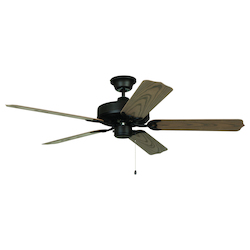 Craftmade Aged Bronze Outdoor 52in. 5 Blade Indoor Ceiling Fan - Blades Included