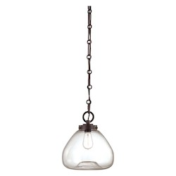 Savoy House One Light English Bronze Clear Glass Down Pendant