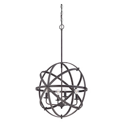 Savoy House Four Light English Bronze Up Chandelier