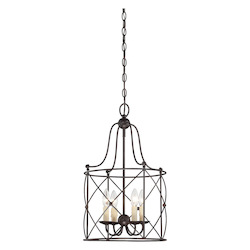 Savoy House Four Light English Bronze Foyer Hall Pendant