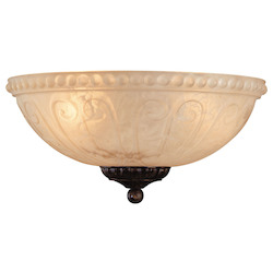 Savoy House Open Box Three Light New Tortoise Shell Cream Carved Marble Glass Fan Light Kit