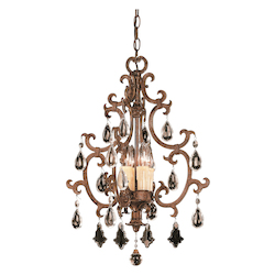 Savoy House Four Light New Tortoise Shell Open Frame Foye Light Fixture