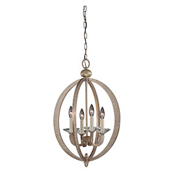 Savoy House Four Light Gold Dust Open Frame Foyer Hall Fixture