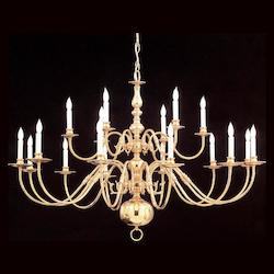 Crystorama Eighteen Light Polished Brass Up Chandelier