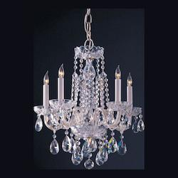 Crystorama Five Light Polished Chrome Up Mini Chandelier