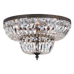 Crystorama English Bronze Richmond 4 Light Flush Mount Ceiling Fixture