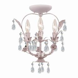 Crystorama Blush Paris Flea Market 3 Light Semi-Flush Ceiling Fixture