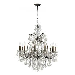 Crystorama Ten Light Vibrant Bronze Up Chandelier